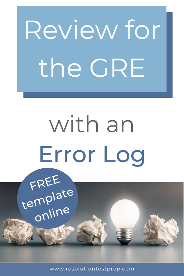 Review for the GRE with an Error Log